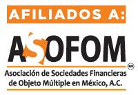 Estamos afiliados a la Asociación de Sociedades Financieras de Objeto Múltiple en México, A. C.